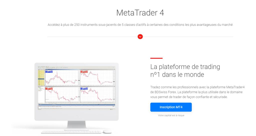 MT4 : Le logiciel MT4 utilisé par bdswiss pour trader en ligne